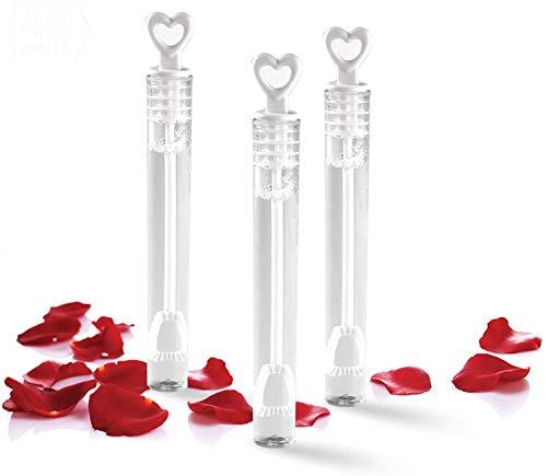 TellementHappy 96 Flacon De Bulles de Savon pour Mariage Anniversaire Baptême et Fiançailles idéal Cadeau pour Les invités