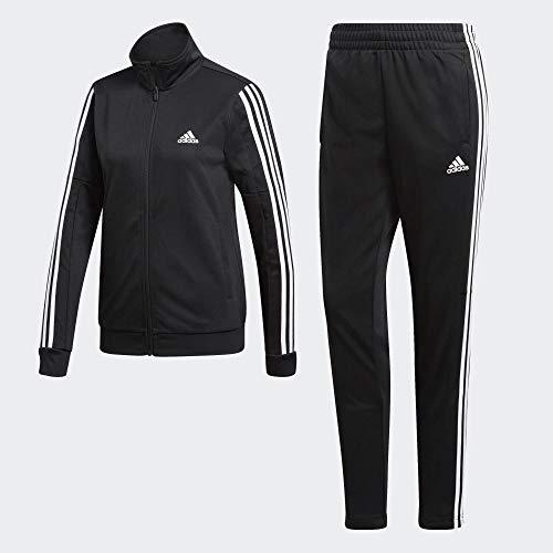 adidas Women TS Team Sports, Suits Donna, Black/Black/White, XL/52-54
