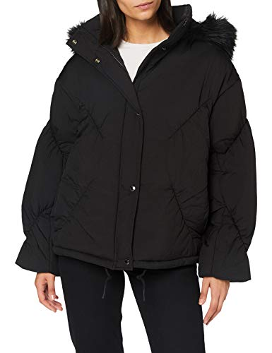Armani Exchange Womens Blouson Jacket Down Alternative Coat, Black, L