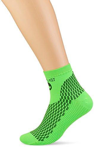 Medilast D227VN - Calcetines Cortos de Running Unisex, Color Verde neón, Talla S