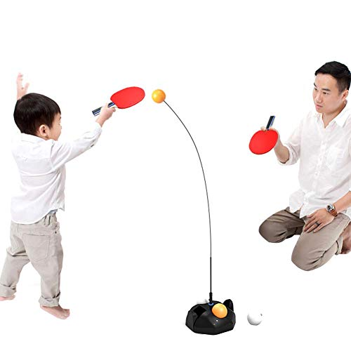 Best Prices! OTTF Table Tennis Trainer Movable Elastic Soft Shaft Vision Training Adjustable Height ...
