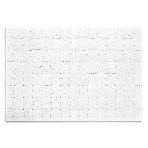Kopierladen Karnath GmbH Puzzle Bianco da Personalizzare - 120 Pezzi, 290 x 200 mm - Puzzle Bianco per dipingere, disegnare e Decorare
