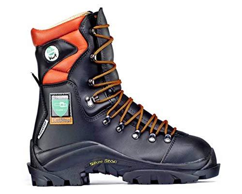 boot bot Stiefel botte TREEMME stivale sicurezza classe 2 boscaiolo antitaglio pelle suola IBEX gomma chiodabile ramponabile con puntale antischiacciamento fodera in pelle Made in Italy cod. 1202R