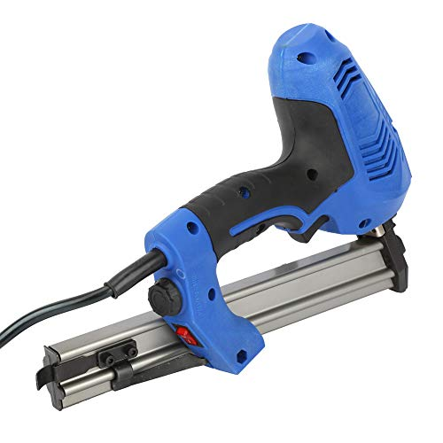 Pistola de clavos eléctrica, pistola de clavos portátil de plástico de intensidad ajustable para decoración de gabinete