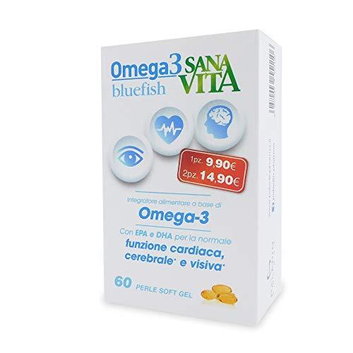 Sanavita Omega3 Bluefish Integratore Alimentare, 60 perle