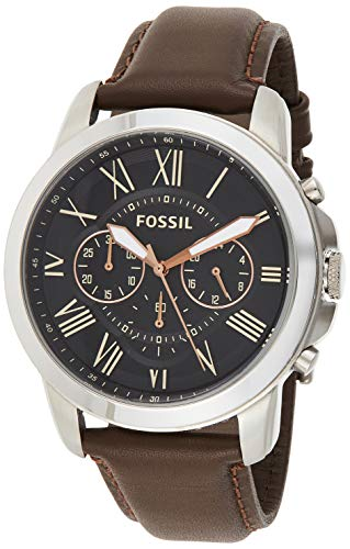 Fossil Men's Grant Stainless Steel and Leather Chronograph Quartz Watch -$42.99(67% Off)