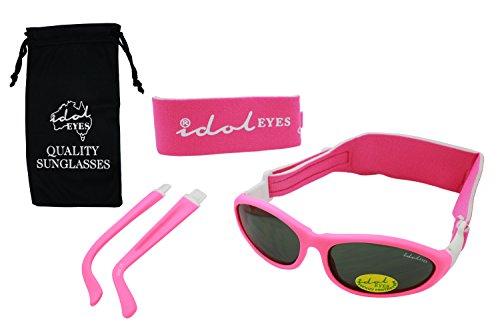 Baby Wrapz Modulare 2Cabrio Sonnenbrille 0–5Jahren mit 2Kopfbändern und abnehmbaren Armen (Pink)