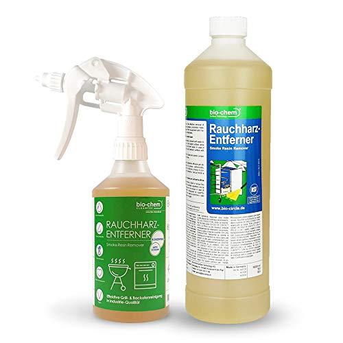 Bio-Chem Rauchharz-Entferner Grill & Backofenreiniger 500 ml Konzentrat + Nachfüllflasche 1000 ml bis zu 60 L Reinigungslösung
