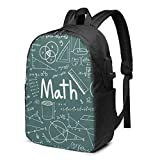 Matemáticas Teoría Matemática Fórmula Ecuación Escuela Bolsa de Viaje Mochila de 17 pulgadas portátil bagGgDupp USB Mochila de 17 pulgadas
