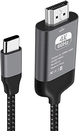 Kdely Cable USB C to HDMI 4K@60Hz, Adaptador Tipo C a HDMI p