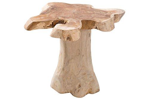 DuNord Couchtisch Teak Wurzelholz Natur Wohnzimmertisch Beistelltisch Holztisch Pali 40cm massiv Holz