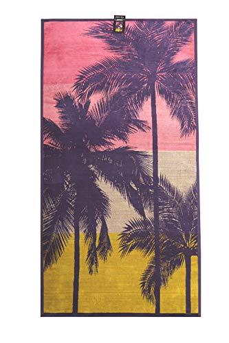 jilda-tex Strandtuch 90x180 cm Badetuch Strandlaken Handtuch 100% Bio-Baumwolle Velours Frottier Pflegeleicht (Miami)