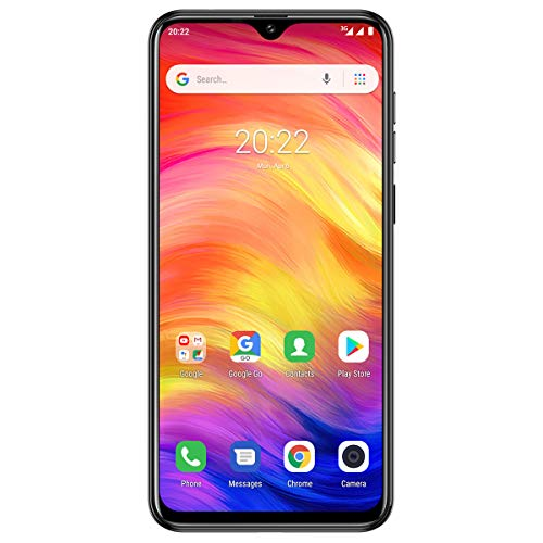 Offerta Cellulare, Ulefone Note 7 Smartphone Economici Android 9.0, Tre Telecamere Posteriori 8M/2M/2M, Tre Slot Per Schede, 16GB ROM 64GB Espandibili, 3500mAh, 6,1 Pollice, Face Unlock/GPS-Nero
