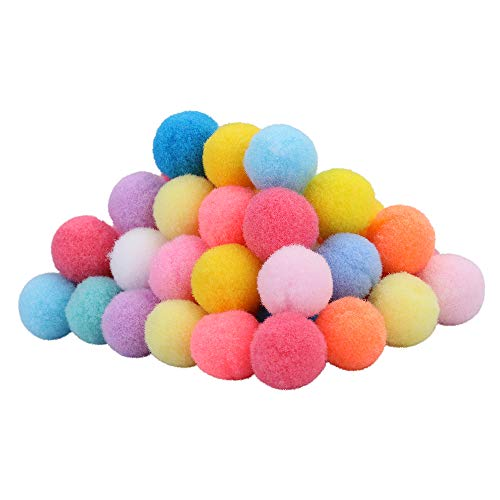 Pom Poms Balls (500 Pieces) 1.5 cm – 0.6 Inch, Colorful Pompoms for DIY Creative Crafts Decorations, Kids Craft Project, Home Party Holiday Decorations (500)
