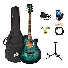 Akustikgitarre Blau-grün