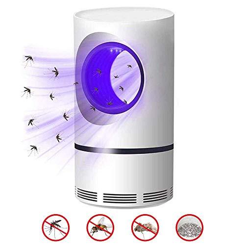 TRONMA Lámpara Antimosquitos 2019, Lampara Mata Mosquitos USB Electronic 360 ° LED Luz De Onda Guiada Bug Zapper Mosquito Lamp - Niños Seguros, No Tóxicos, Sin Radiación Sin Químicos