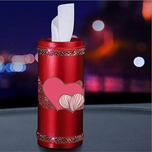 Pumaping Box Damen Korean Diamanten besetztes Doppelschwanen Crown snowflack Pumprohr rundes Geweberohr Tissue-Box (Color Name : Red Double swan)