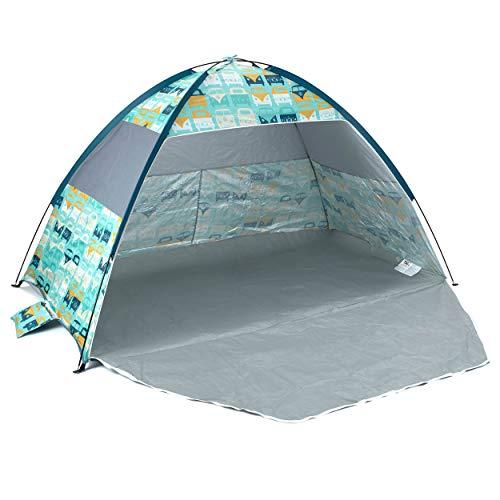 Board Masters Volkswagen Sonnenschutz-Strandzelt UV-Schutzfaktor von 50+ mit Tragetasche – VW Bulli T1 Design Zelt für den Strand