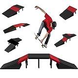 The Magic Toy Shop 6 in 1 Skate Ramp Set For Scooter Skateboard Stunt Bike Inline Roller Skates BMX