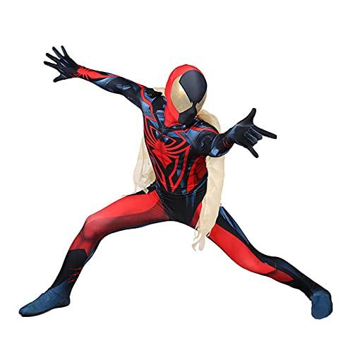 LGYCB Symbiote Spider-Man Cosplay Disfraz Halloween Cosplay Medias Mostrar Etapa Síndrizamiento Rendimiento SIIMESE Ropa Jumpsuit con Manto,Bodysuit-Adult XXXL(180~185cm)
