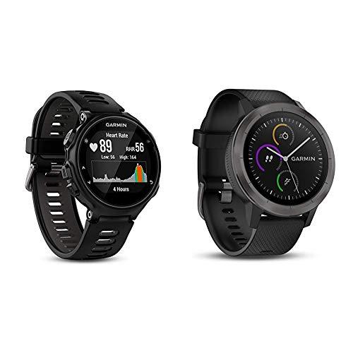 Garmin Forerunner 735XT-GPS-Uhr, schwarz/grau, M, 010-01614-06 & vívoactive 3 GPS-Fitness-Smartwatch - vorinstallierte Sport-Apps, kontaktloses Bezahlen mit Garmin Pay, Gunmetal
