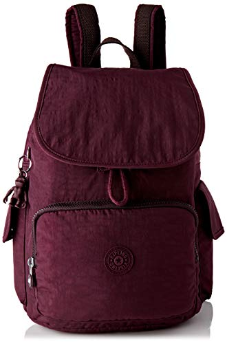 Kipling Damen City Pack Rucksack, Violett (Dark Plum), 32x37x18.5 centimeters