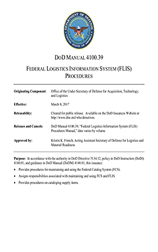 Department of Defense Manual 4100.39: Federal Logistics Information System (FLIS) Procedures