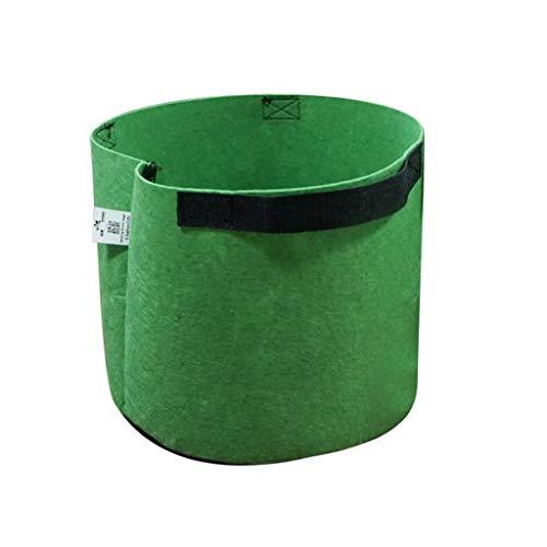 1 Stück Pflanzsäcke Pflanztasche Pflanzbeutel Pflanzgefäß Pflanzsack Pflanzbehälter Pflanzkübel | Gurt-Griffe Gärtnerei Gewächshaus Pflanztopf Grow Bag Pflanzen Taschen (5Gallon, Grün)