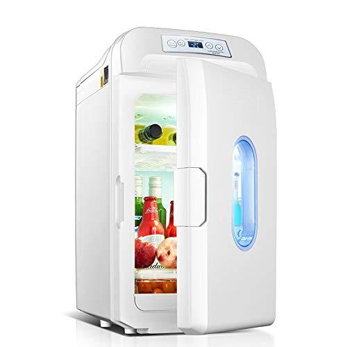 Mini frigo con congelatore Auto Frigorifero-35L Grande capacità Mini Car Frigorifero Portatile caldo e freddo Dual-use Piccolo frigorifero Dual-core Refrigerazione Display digitale Controllo della tem