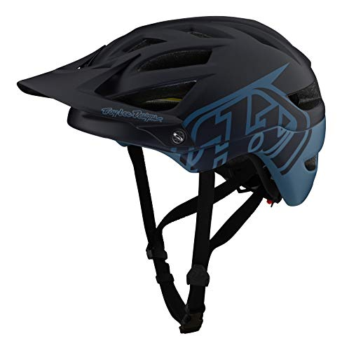 Troy Lee Designs Adulto | All Mountain | Casco de bicicleta de montaña Half Shell A1 Classic W/MIPS (azul marino, SM)