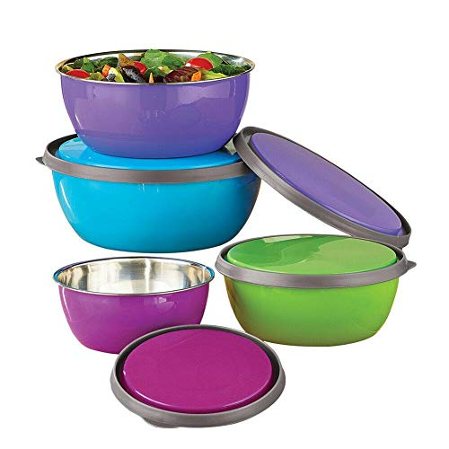 Stainless Steel Nesting Bowls with Lids – Store, Prep, Serve-Mixing bowl-Mixing bowls-Bowls for kitchen-Mixing bowls for kitchen-Prep bowls-Kitchen bowls
