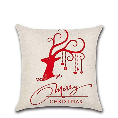 18 X 18 Pulgadas ,Feliz Navidad Cojín Cubierta Santa Claus Square Color Perro Carta Xmas Ambience Cuadrado Decorativo Throw Pillow Case Sofá Home Decoración Para Sofá Coche Dormitorio Office Para