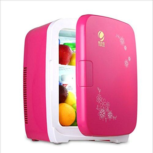 KY Mini frigo Frigorifero per Auto da 15 Litri, Mini frigo Portatile, Riscaldamento Intelligente a 12 V, deposito per farmaci, Frigorifero per Cosmetici (Colore : Rosso)