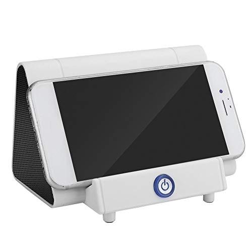 sjlerst Altavoz Bluetooth, Altavoz Innovador Blanco ecológico, Mini Altavoz de inducción Inteligente inalámbrico, Amplificador de resonancia para teléfono móvil Sonido al Aire Libre(Blanco)