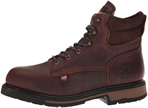 "Thorogood 804-4203 Men's American Heritage 6"" Classic Plain Toe, Safety Toe Boot, Black Walnut - 14 D(M) US"