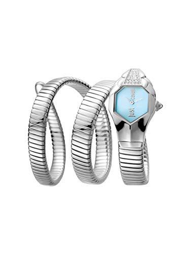 Just Cavalli Damen Analog Quarz Uhr mit Edelstahl Armband JC1L022M0015