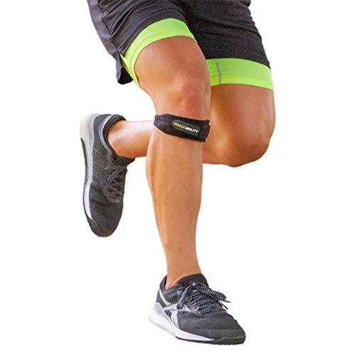 BraceAbility Patella Tendon Strap - Knee Stabilizer Brace with Adjustable Band for Patellar Tendonitis, Osgood Schlatter, Hiking, Soccer, Basketball, Running, Jumper's Knee, Tennis, Volleyball (XS)