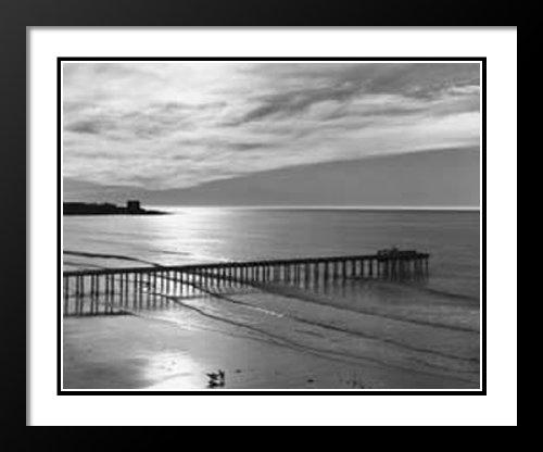 Ansel Adams Framed and Double Matted Art Print 25x29  Scripps Pier