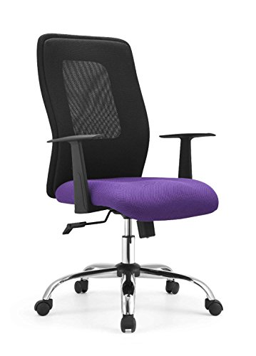 deine-tante-emma 60180FS Drehstuhl, Chefsessel Bürostuhl Chester flieder/lila & schwarz