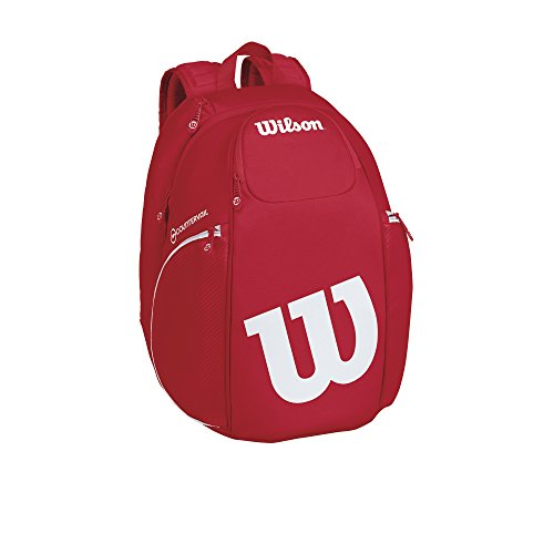 Wilson Vancouver Raqueta Bolsa, Pro Staff Collection – Mochila (Rojo/Blanco)