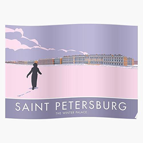 Hermitage Snow Russia Retro USSR Petersburg Saint Travel Dusk Home Decor Wandkunst drucken Poster !