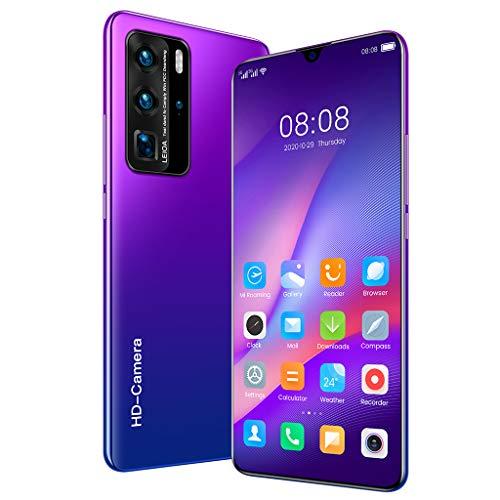 P60Pro (2020) Smartphone ohne Vertrag 4G, Android 10 Go, 7,1 Zoll HD+ Bildschirm, 32MP Quad Kamera, 5000mAh Batterie 4GB+32GB Dual SIM Handy - Deutsche Version
