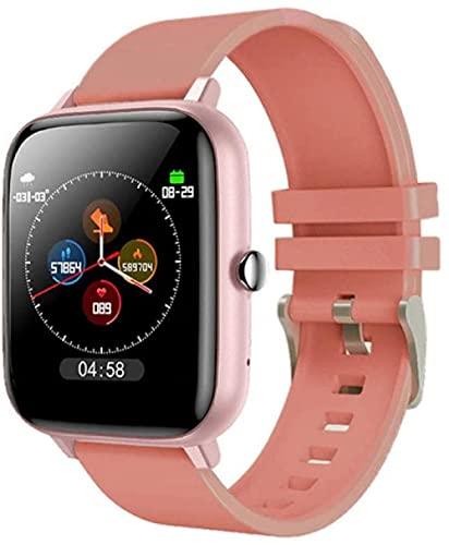 Reloj inteligente Reloj Inteligente Presión Arterial Ritmo Cardíaco Fitness Tracker Sport Smartwatch Reloj Mujeres Hombres Reloj Inteligente Para Android IOS Xiaomi-naranja