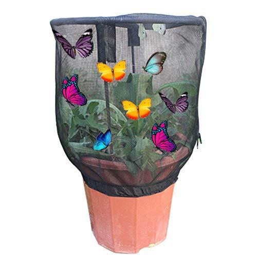YMZ Filet de jardin pour élevage des insectes, terrarium, observation des plantes, parasol, pot de fleurs, habitat portable
