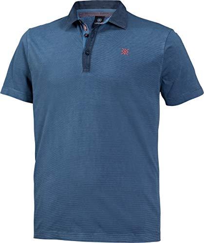 LERROS Herren Polohemd in Blau, Kurzarm-Poloshirt aus 100% Baumwolle, angenehmer Modern Fit-Schnitt, Gr. 48-60