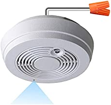 WF-402SAC Sony 1080p IMX323 Chip Super Low Light Spy Camera with WiFi Digital IP Signal, Recording & Remote Internet Access, Camera Hidden in a Fake Smoke Detector (120VAC, Straight-Down View)