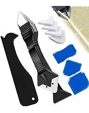 9 Stuks Van Siliconen Tool Schraper Set, Siliconen Afdichting Tool Kit Multifunctionele 3-In-1 Voor Badkamer Keuken Badkamer Vloertegels