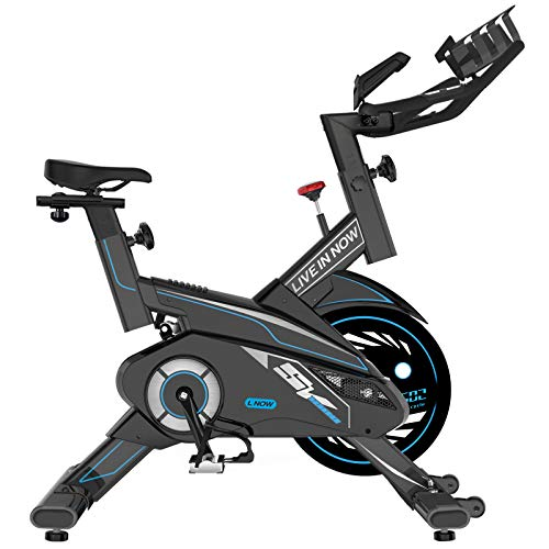 Indoor Exercise Bike, pooboo Magnetic Cycling Bike Belt Drive Indoor Stationary Bike with...