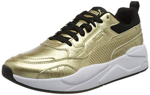 PUMA Unisex X-RAY² Square METALLIC Tumbled Sneaker, Team Gold Team Gold Schwarz Weiß, 36 EU