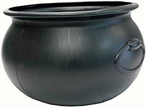 """PMU Halloween Cauldron 16"""" Black Plastic Party Accessory, Great For Harry Potter Theme Parties (1/Pkg) Pkg/1"""